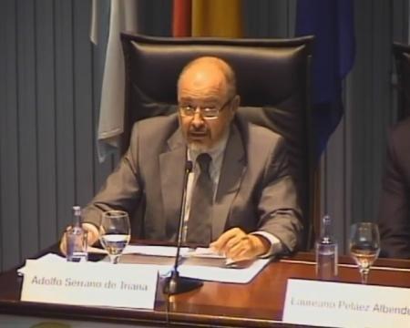 Adolfo Serrano de Triana. Letrado da Seguridade Social. Catedrático de Dereito Administrativo. Maxistrado do Contencioso-Administrativo.
